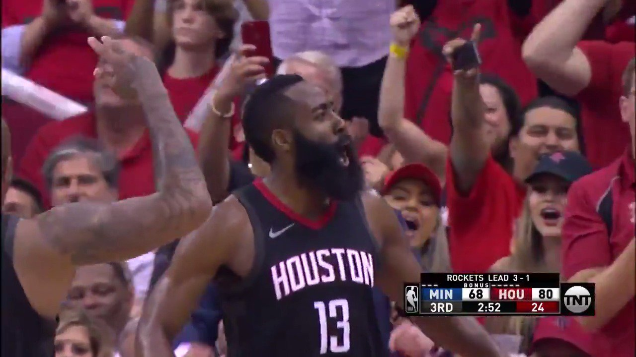 James Harden puts up 24 PTS, 12 AST for the @HoustonRockets in their series-clinching win! #Rockets #NBAPlayoffs https://t.co/LVeVnWTjsb