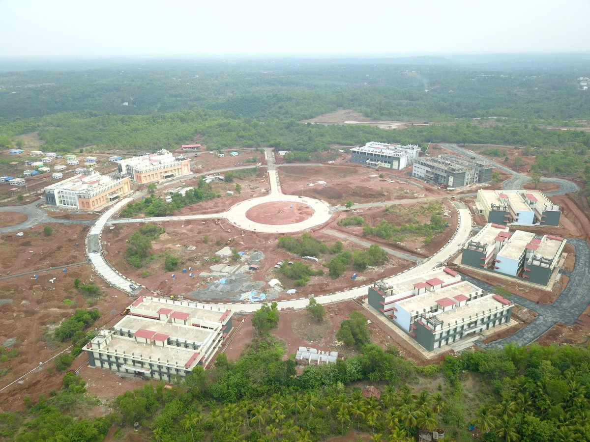 test Twitter Media - Aerial view of the New Campus of the Central University of Kerala at Tejaswini Hills, Periye, Kasaragod. https://t.co/bCVR6M1pkC