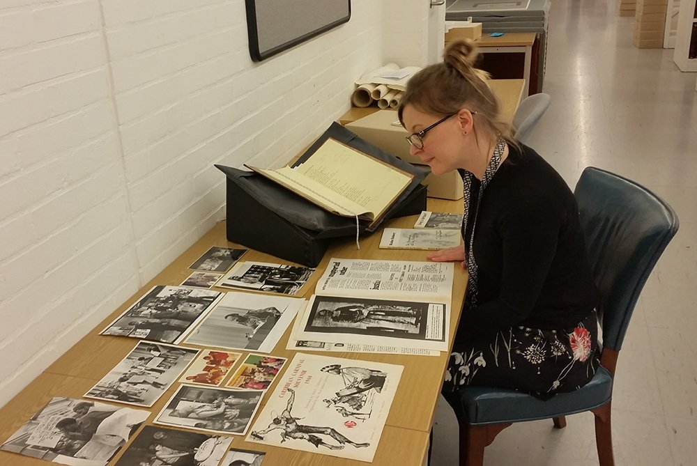 test Twitter Media - 'The best bit of my job is working with the collections of writers I admire.' Here, Zoë looks through the archive of Jamaican-born writer and broadcaster Andrew Salkey, which has offered up many gems for our upcoming Windrush exhibition. #professionsMW https://t.co/BC0lXsNUcp