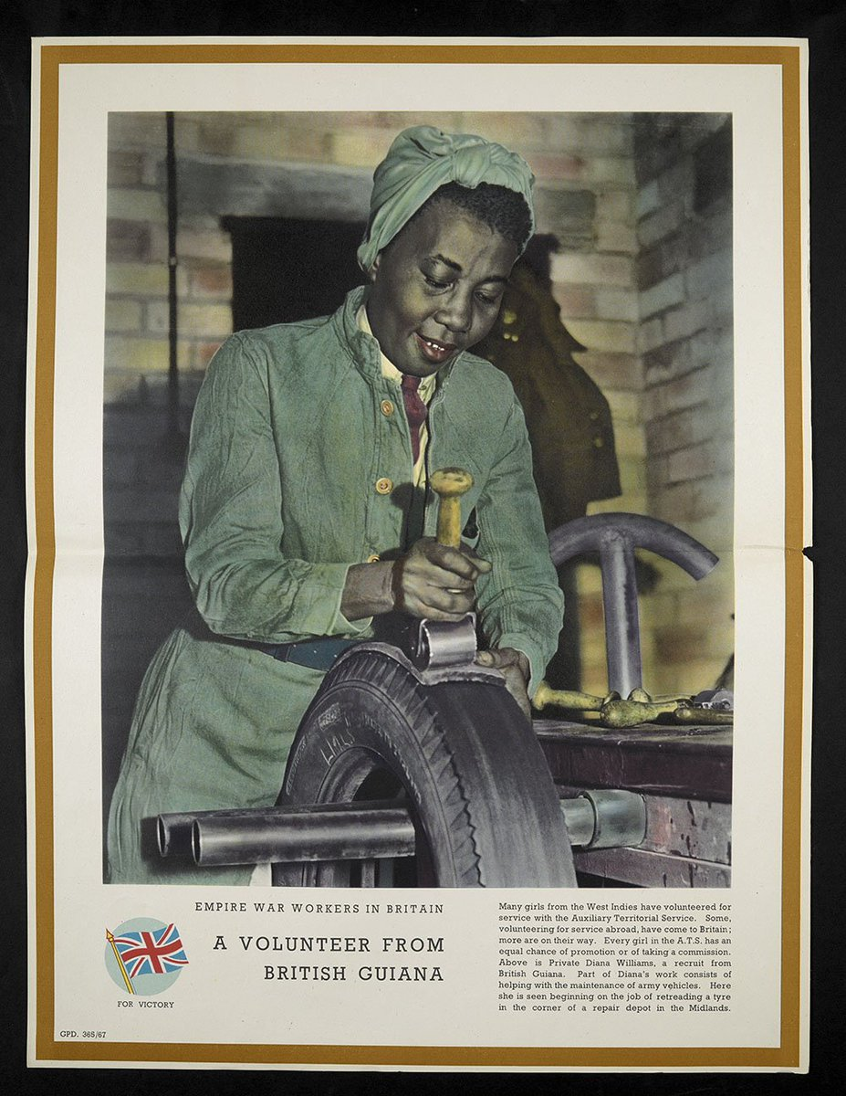test Twitter Media - 'Working on exhibitions means I get to discover items from different collections across the Library. These posters on Caribbean involvement in WWII come from our Ministry of Information poster collection and will be on display in Windrush: Songs in a Strange Land' #professionsMW https://t.co/eWvpCyoI6N