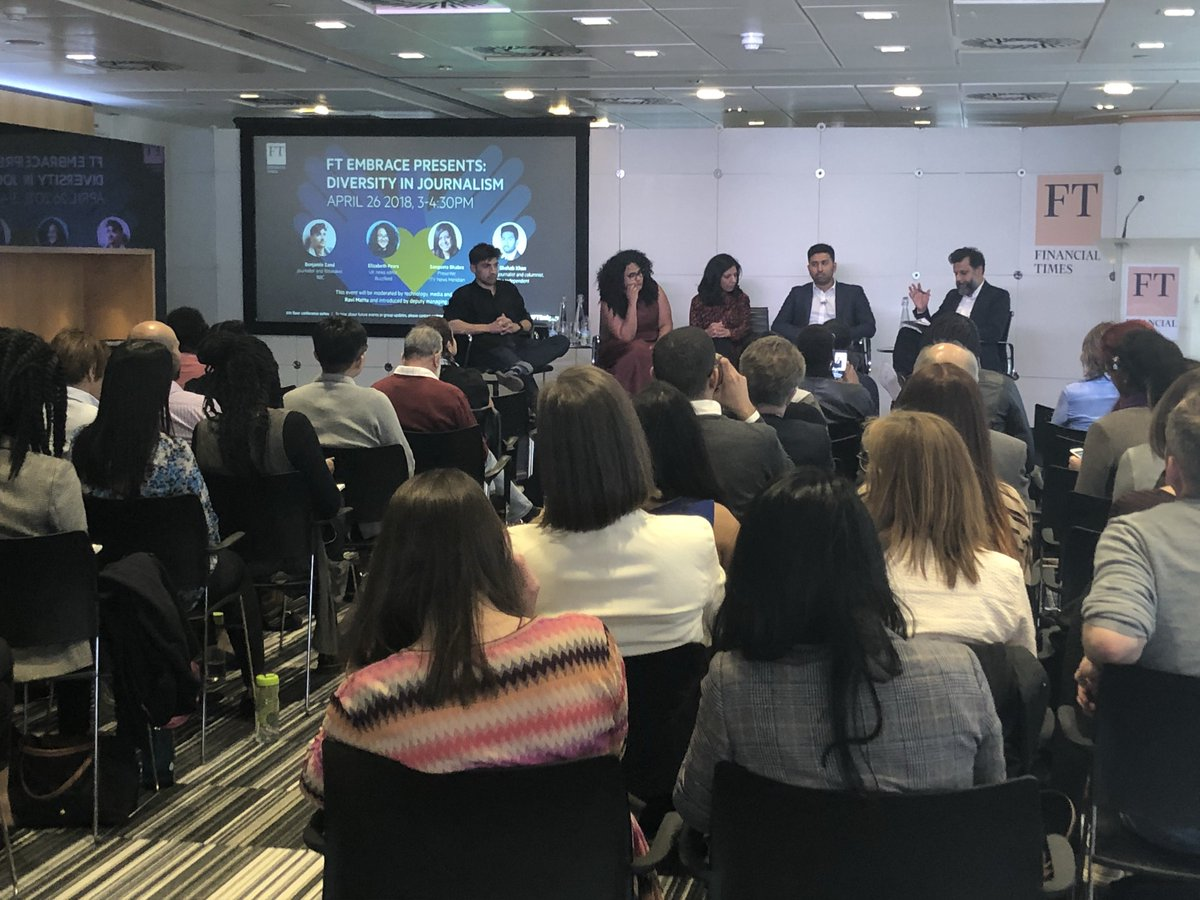 RT @FTPressOffice: Full house at the #ftembrace Diversity in Journalism event @FT headquarters in London https://t.co/u3pvc2tJbw