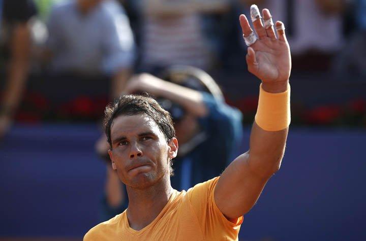 @BroadcastImagem: Nadal arrasa compatriota e encara algoz de Djokovic nas quartas em Barcelona. Manu Fernandez/AP