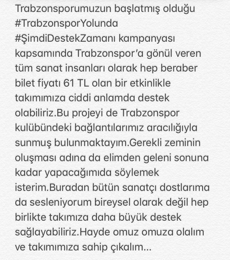 RT @EkinUzunlar: @Trabzonspor #trabzonsporyolunda #ŞimdiDestekZamanı  @ulas_ugras @ahmetagaoglu67 https://t.co/TNtaJu3qCu