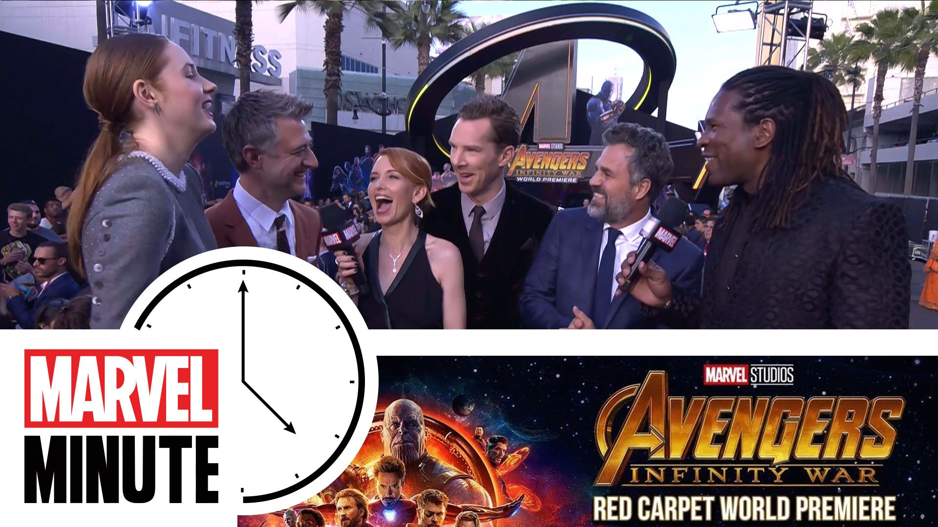 Marvel Studios' @Avengers: #InfinityWar is here! It's time for your #MarvelMinute with host @LorraineCink. https://t.co/dm54D5bymg