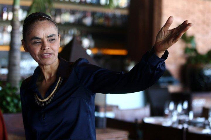 @BroadcastImagem: Marina Silva (Rede) em debate do Centro Brasileiro de Relações Internacionais, no Rio. Fábio Motta/Estadão