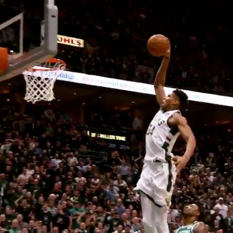 Giannis strides in for the stuff! ������  #PhantomCam #FearTheDeer https://t.co/aM40Z0y9Ot