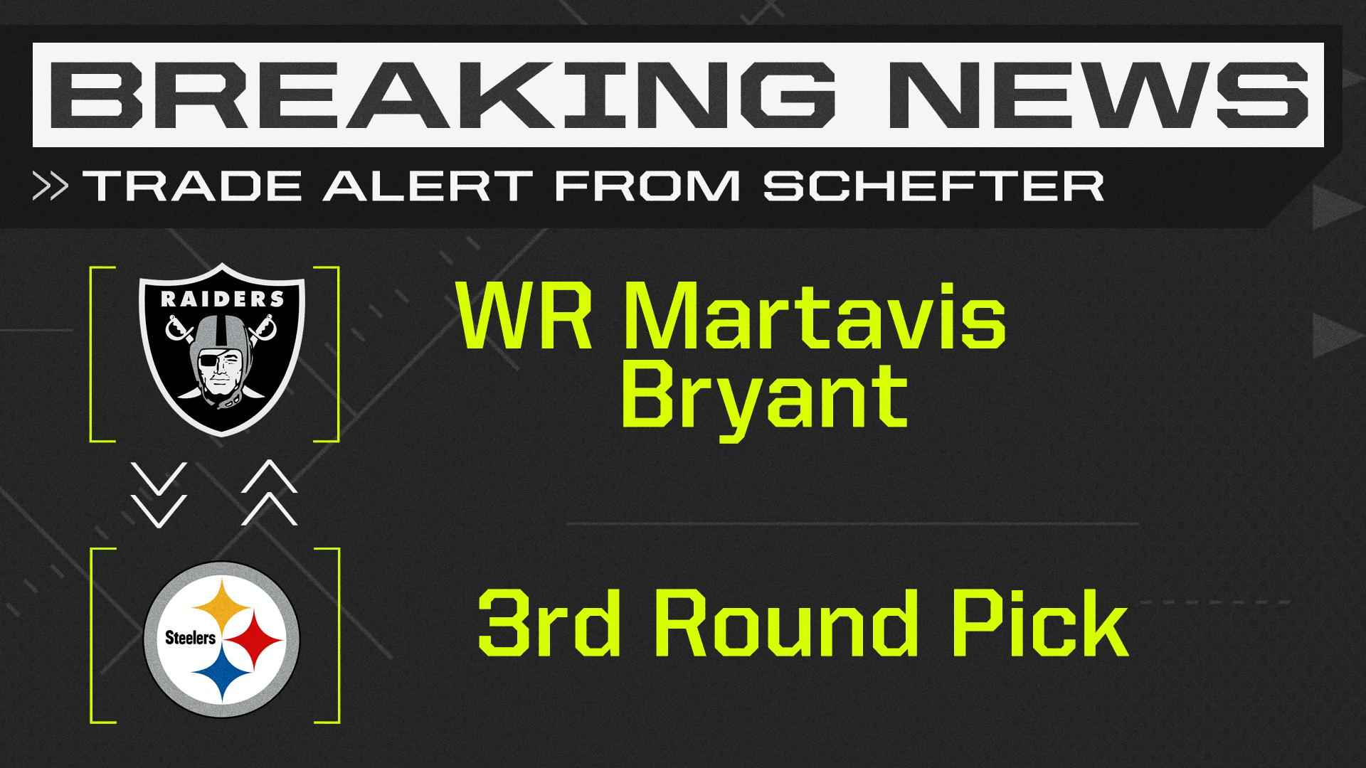Breaking: Steelers trade WR Martavis Bryant to the Raiders for a 3rd round pick. (via @AdamSchefter) https://t.co/Im9cHnuh9j