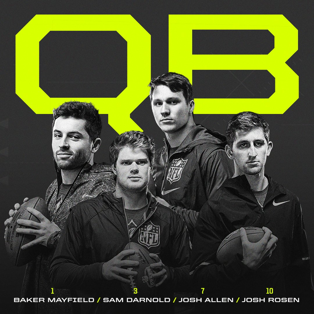 For the first time in the Common Draft Era (since 1967), 4 quarterbacks were selected in the top 10. https://t.co/eS7LugHkzC