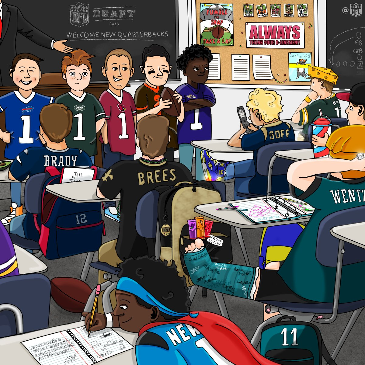Welcome to the NFL!  Class is in session, rookies. #NFLDraft https://t.co/DKDFFkCHMg