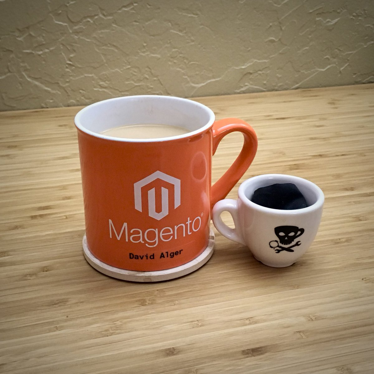blackbooker: Thanks to #MagentoImagine my mug has received an upgrade! 😂 https://t.co/k9da0C3FuC