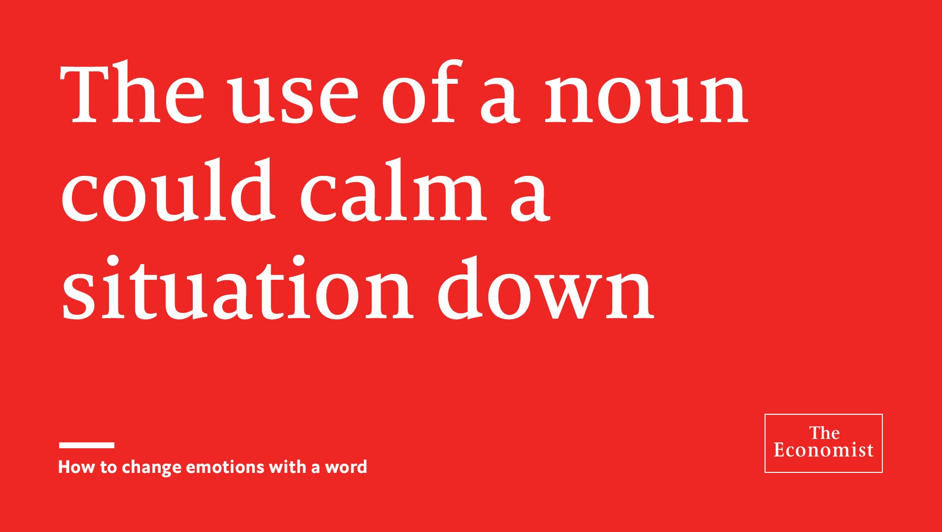 Relying on nouns rather than verbs is a good way of using language to reduce tension https://t.co/1oV0Fz0nNL https://t.co/h7zvJdAdhP