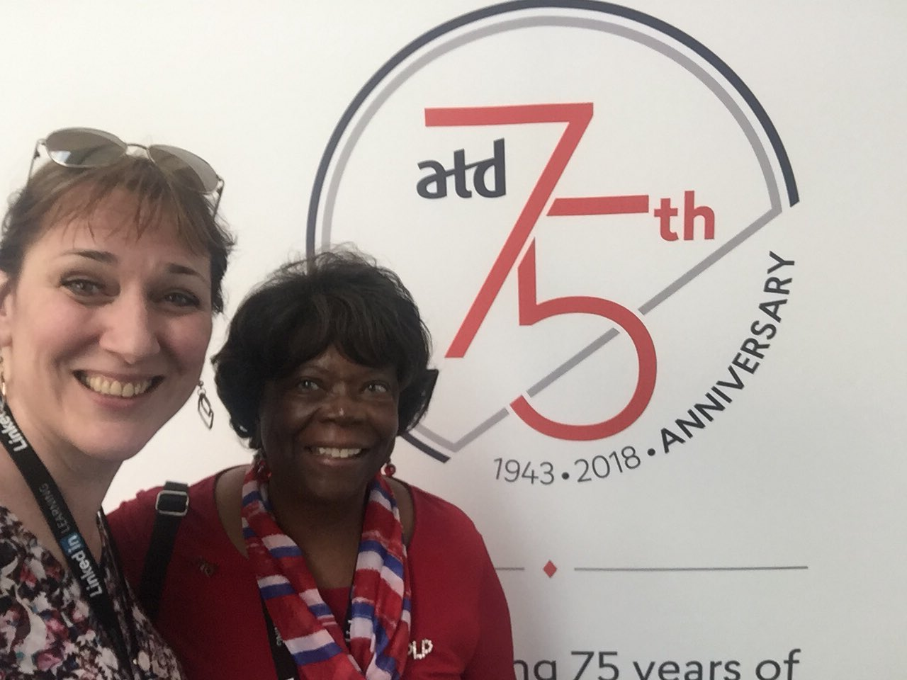 My annual ATD conference would not be complete without a photo and conversation with long-time chapter leader and #CPLP Deborah Covin Wilson @debcovinwilson ! #atd2018 https://t.co/NsfaRdHVxN