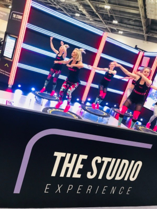 Image for Our first demoers and now our last - @BOUNCEFITBODY are back & drawing more crowds for the final Studio demo of #Elevate18! They're boosting the bounce with punchy music and feature lighting to match their crazily enjoyable, functional workout. #TheSt