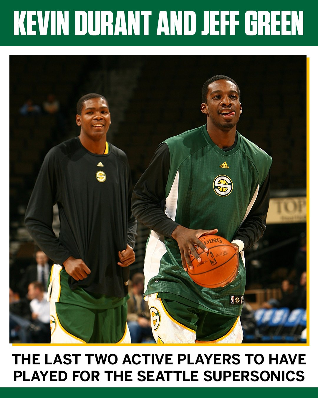 KD and Jeff Green are keeping the Sonics connection alive after the retirement of Nick Collison. https://t.co/1yaZ9fh8Ma