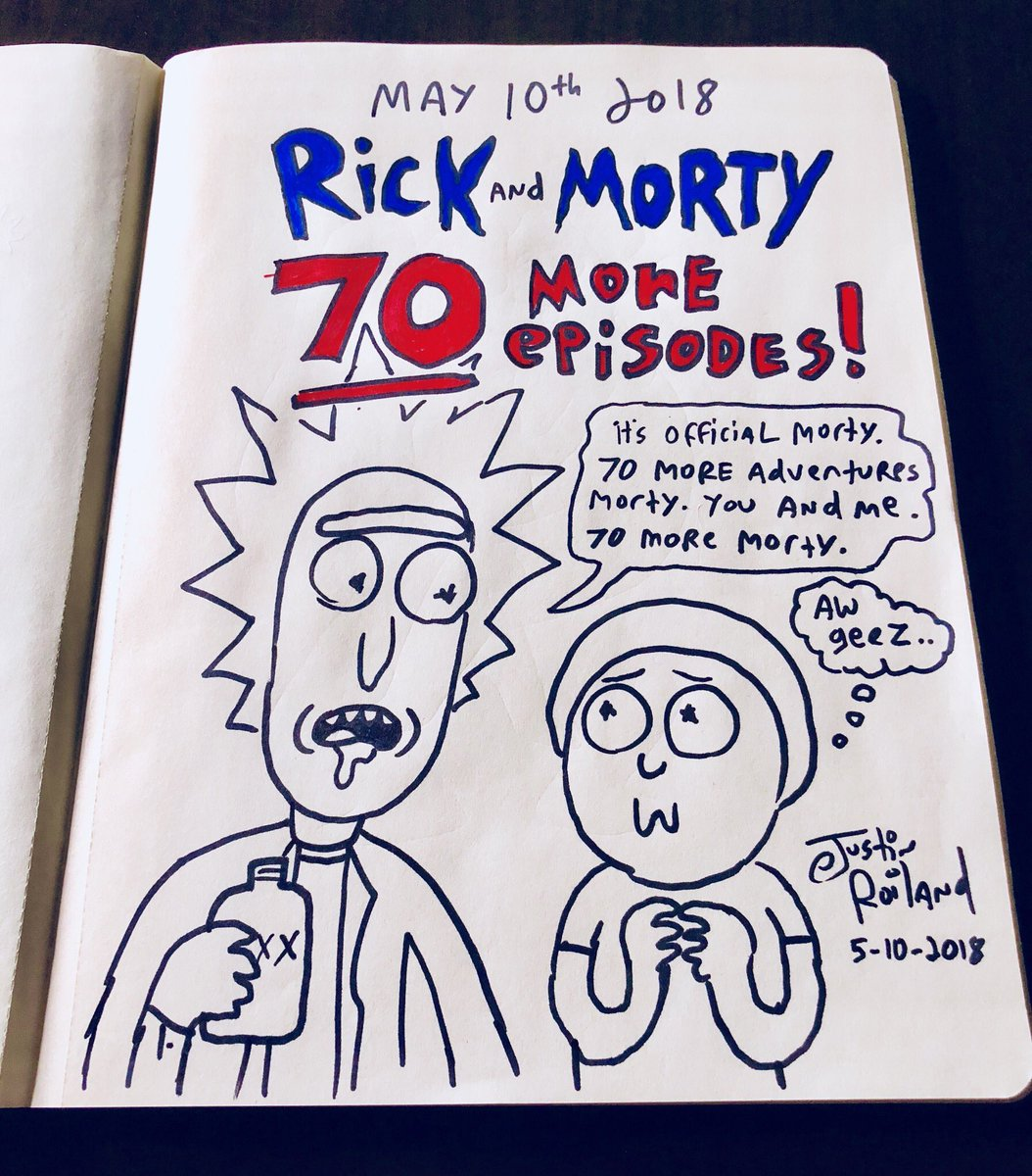RT @JustinRoiland: More Rick and Morty coming. Looking forward to all the tweets asking where it is! #theydrawingit https://t.co/KZild3B9rP