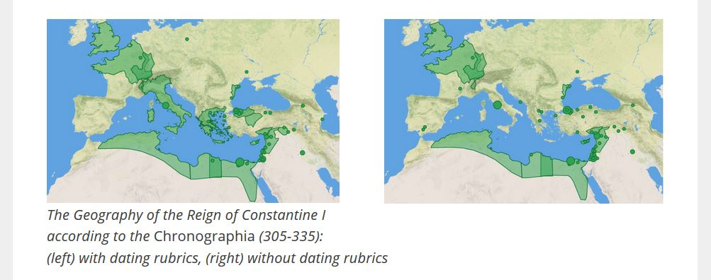 "test Twitter Media - Caroline's work (here in her first post) has allowed us to get a quick overview of how the geography of Constantine the Great's reign (for example) ""looks"" in two different version manuscripts of the Chronicle. #ByzantineTwitter https://t.co/KJa0ZL3xBJ https://t.co/XjlQsMpBGn"