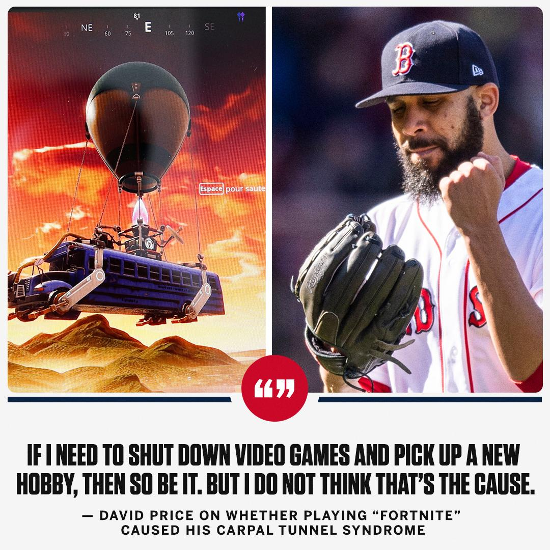 No word on how many Victory Royales David Price has accumulated. https://t.co/GjJlFO0fmW