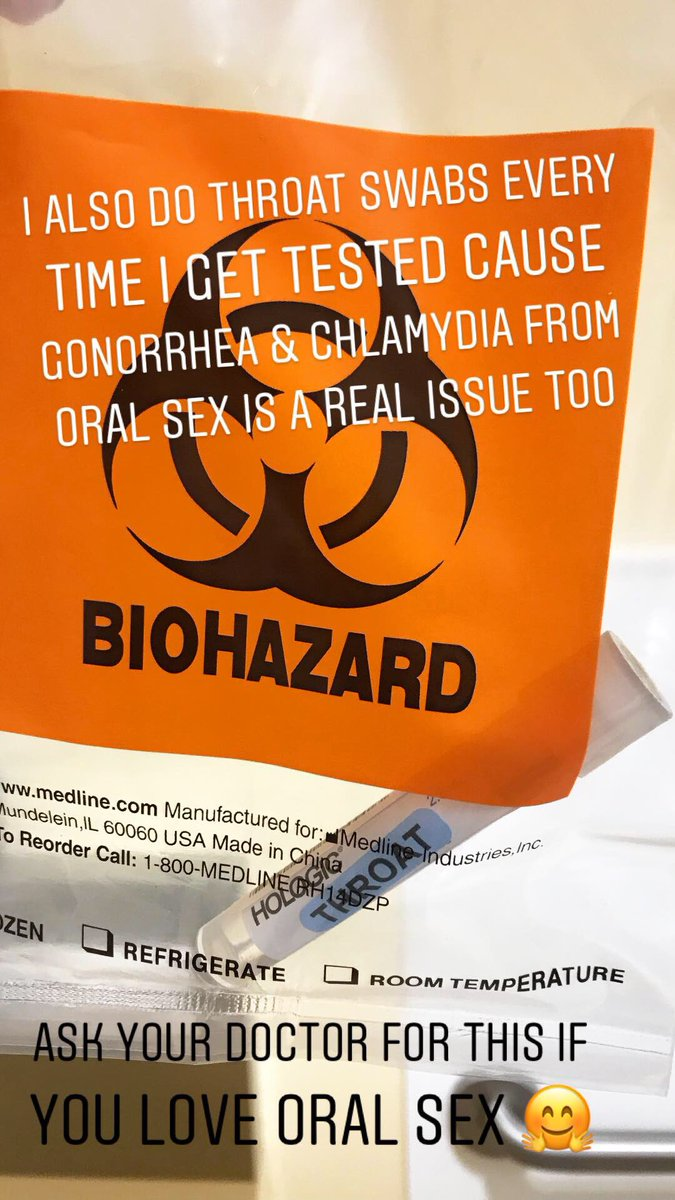 Today's sexual health PSA: if you like oral sex (especially on penises) get a throat swab for STI's!