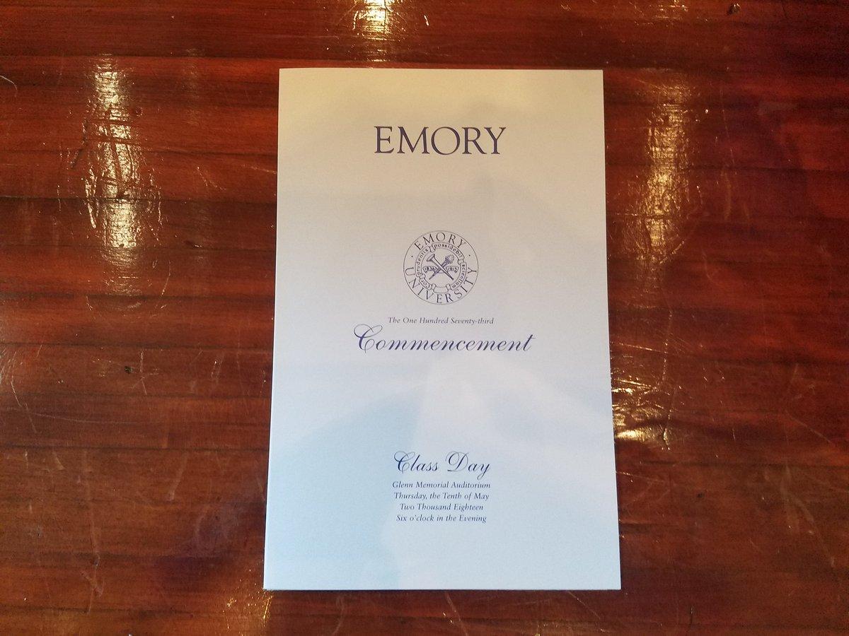 Class Day for #Emory2018 is about to begin! https://t.co/3cyVurQlnO