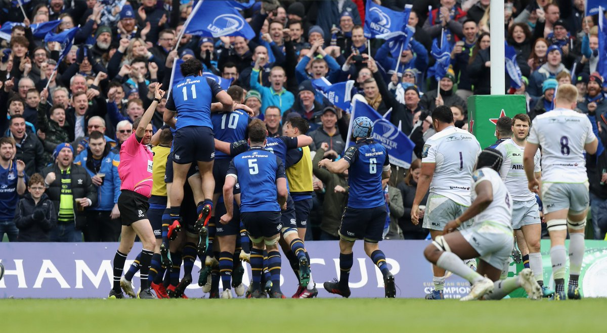 test Twitter Media - Six wins from six in the groups 🙌 30 points on Saracens in the quarters 👊 38 points on Scarlets in the semis 👌 Leinster have been dominant in their route to the #ChampionsCup final 👏 Will they add a fourth star to their jersey tomorrow night? https://t.co/88VUcvsANU