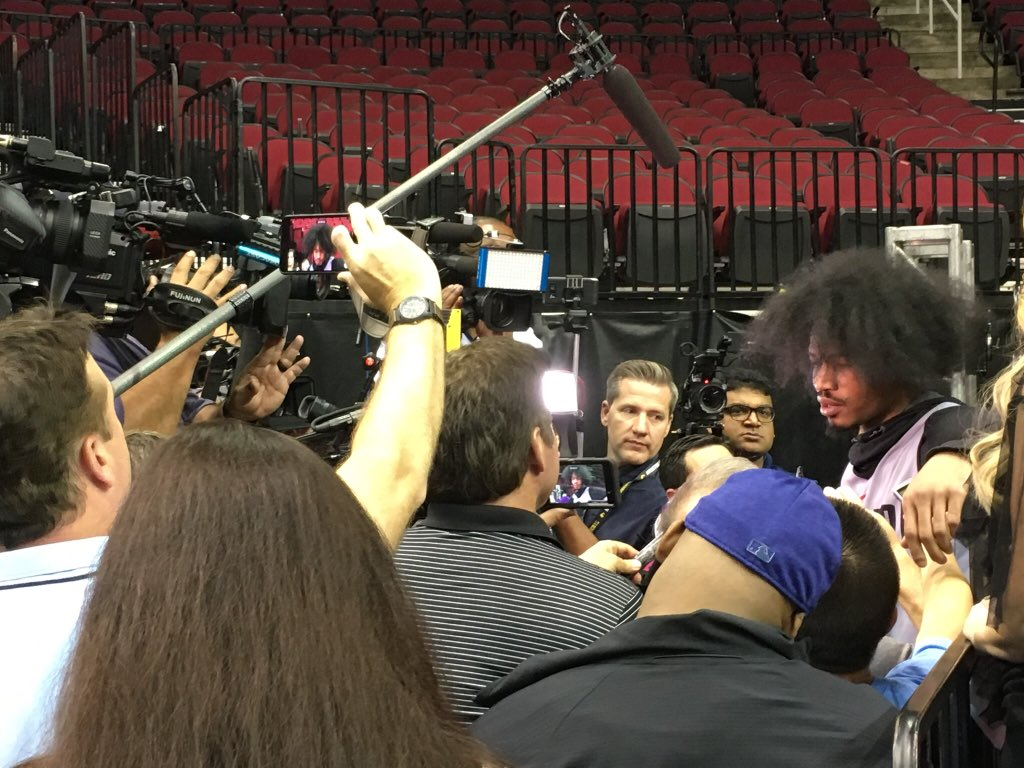 Gerald Green Unbraided Or Hair Unleashed Lol With The Media Horde
