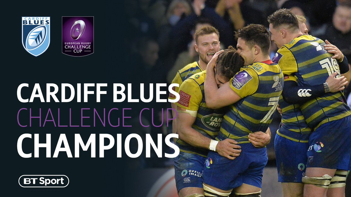 test Twitter Media - What a game! 😍 Cardiff Blues are #ChallengeCup champions after a thrilling 31-30 win over Gloucester in Bilbao! https://t.co/3XwnOUBSXs