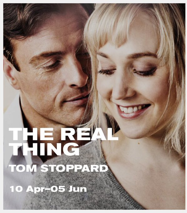 Toby Stephens and Hattie Morahan in The Real Thing. Happy birthday to