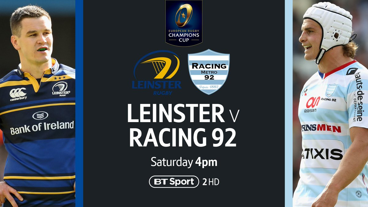 test Twitter Media - The #ChallengeCup is in the books... Now it's time to prepare for the #ChampionsCup final! Can Leinster make it a record-equalling four? Or will Racing win their first? 🏉 Leinster vs Racing 92 📺 BT Sport 2 HD ⏱ 4pm https://t.co/FUFEcvNON2