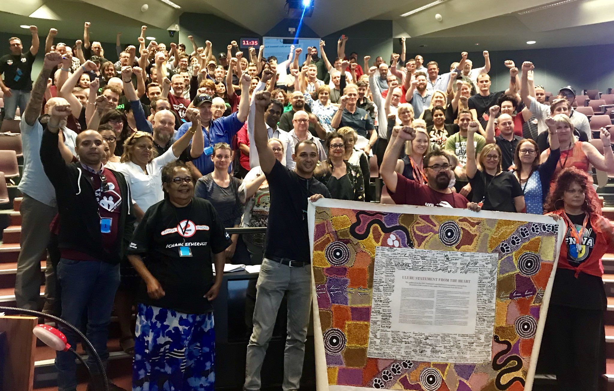 The NT Branch of the ALP has resolved to support the Uluru Statement today at conference. The resolution refers to the Territory Power in the Constitution, and how a constitutionally enshrined Voice is vital to the First Nations in the NT as they embark on treaty talks. #auspol https://t.co/F8hTnchFdh