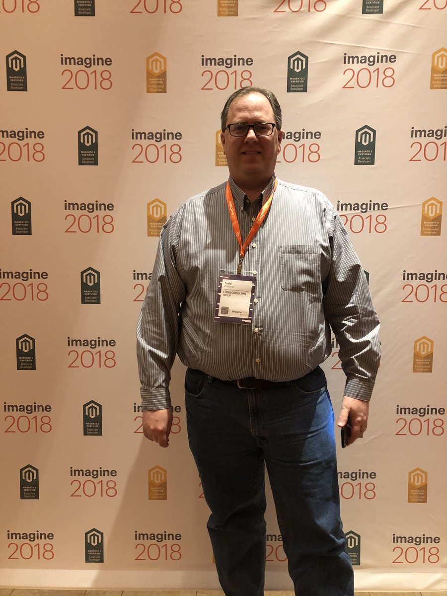MagentoU: Congrats to Todd Wolaver on passing your M2 Certified Professional Developer exam! @miribota #MagentoImagine https://t.co/uikIBF4vMg