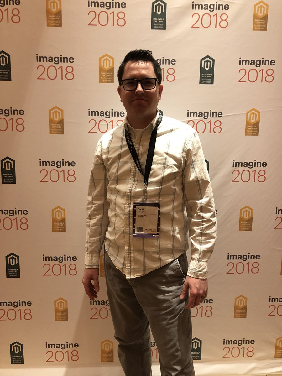 MagentoU: Congrats to Geoff Douglas on passing your M2 Certified Professional Developer exam #MagentoImagine @drdouglasghd https://t.co/ZA6NaMHvK6