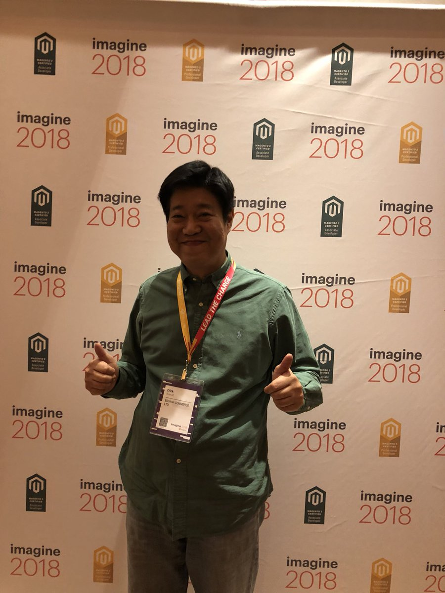 MagentoU: Congrats to Dick Kwon on passing your M2 Solution Specialist exam! #MagentoImagine https://t.co/u2DUvIcM3G