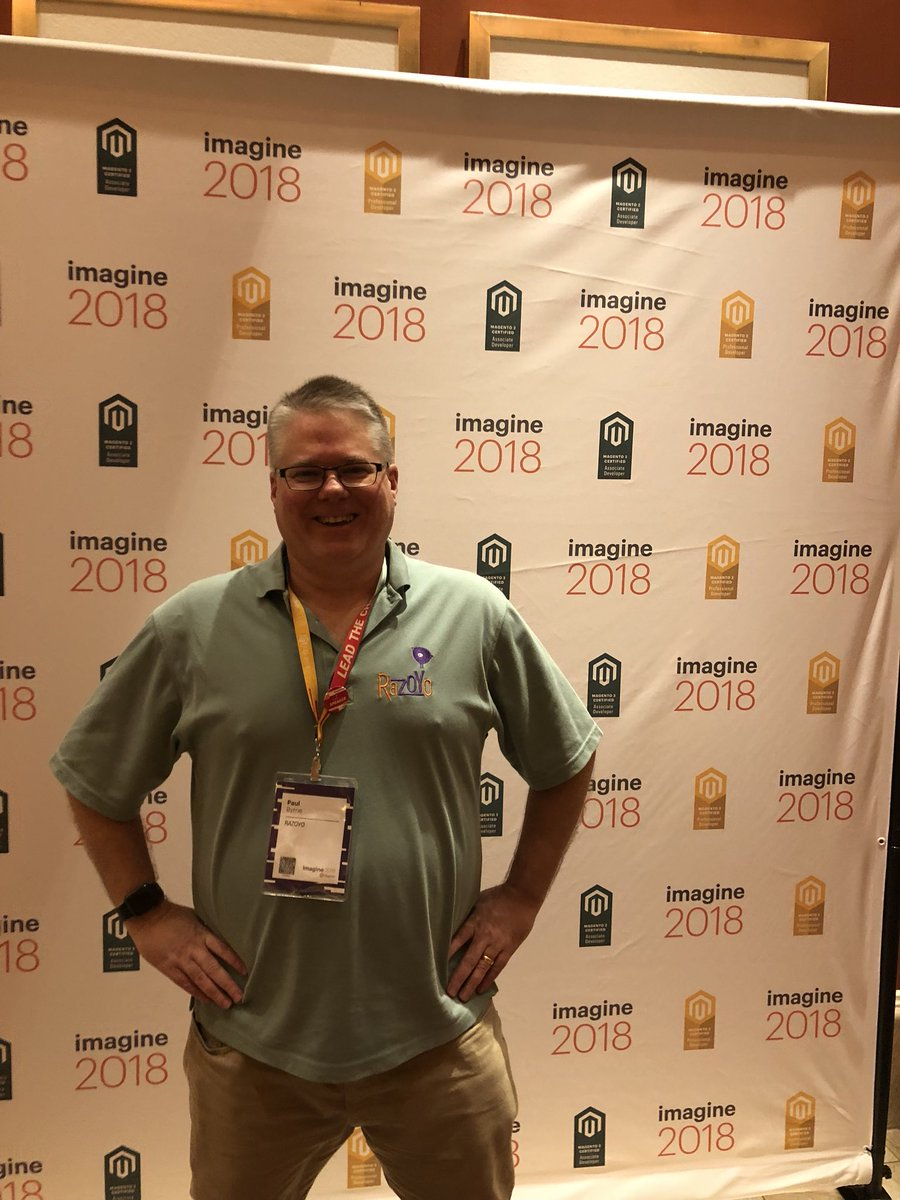 MagentoU: Congrats to Paul Byrne on passing your M2 Certified Solution Specialist exam!  #MagentoImagine @Razoyo https://t.co/hK1vQeAL7d