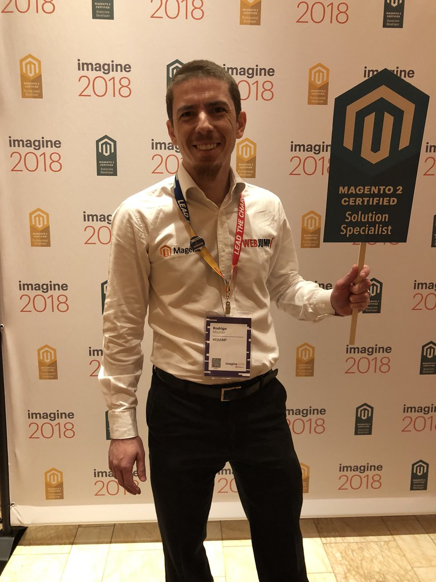 MagentoU: Congrats to Rodrigo Mourao on passing your M2 Certified Solution Specialist exam! @rodrigowebjump #magentoimagine https://t.co/gFR02wCiH0