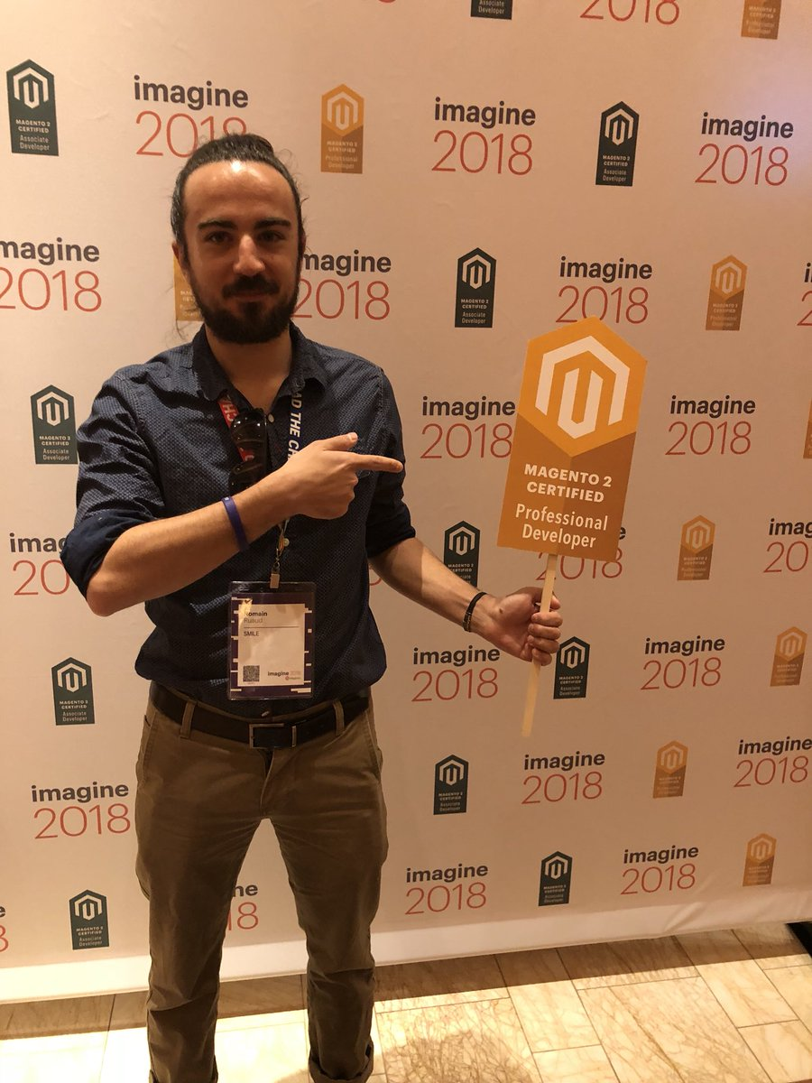 MagentoU: Congrats to Romain Ruaud on passing your M2 Certified Professional Developer exam!! #magentoimagine @romain_ruaud https://t.co/diWXnMWCiH