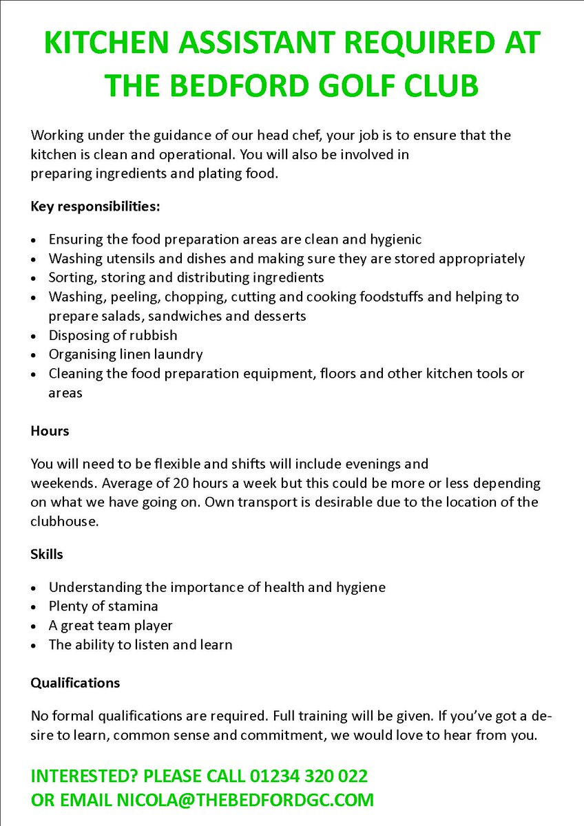 test Twitter Media - WE'RE HIRING! Interested? Please call 01234 320 022 or email nicola@thebedfordgc.com  #JobSearch #NowHiring #Catering #JobOpening #JobOpportunity #tweetmyjobs #Bedford #Bedfordshire https://t.co/Xbndkm5D58