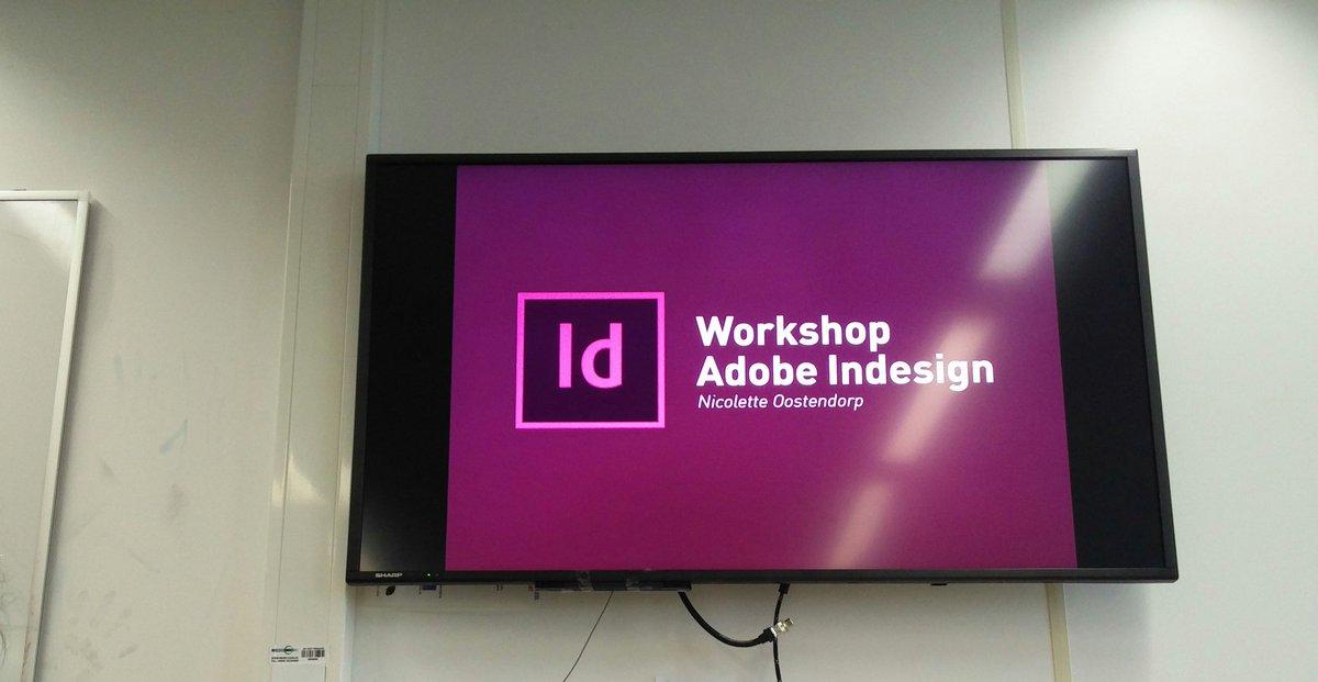 Vandaag een mooie Adobe Indesign tutorial mogen ontvangen van Nicolette #creatieveindustrie #hu