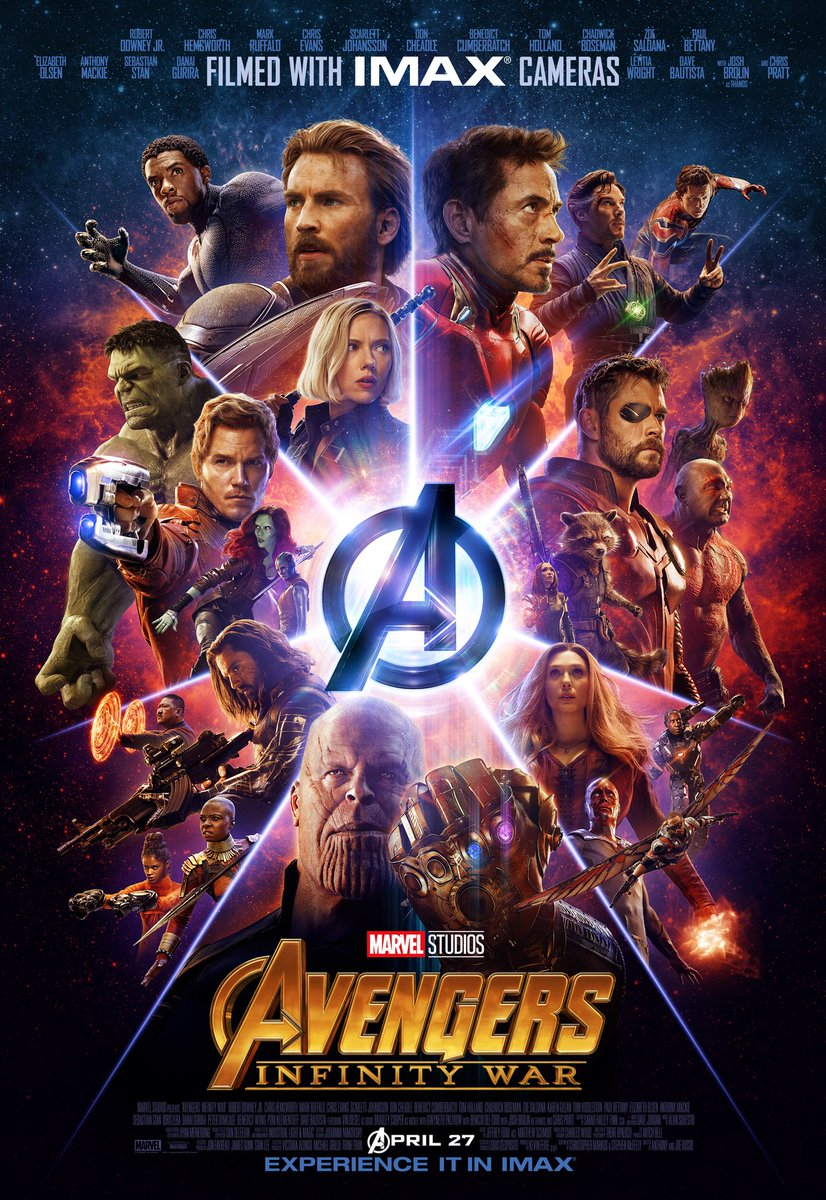 Congrats @MarvelStudios & @Avengers #InfinityWar on the biggest opening weekend in movie history ???????????? https://t.co/GEe5EEdc2p
