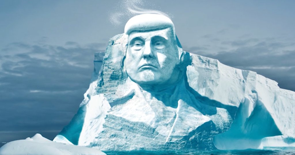 Group wants to carve Trump's face into a glacier to prove climate change exists