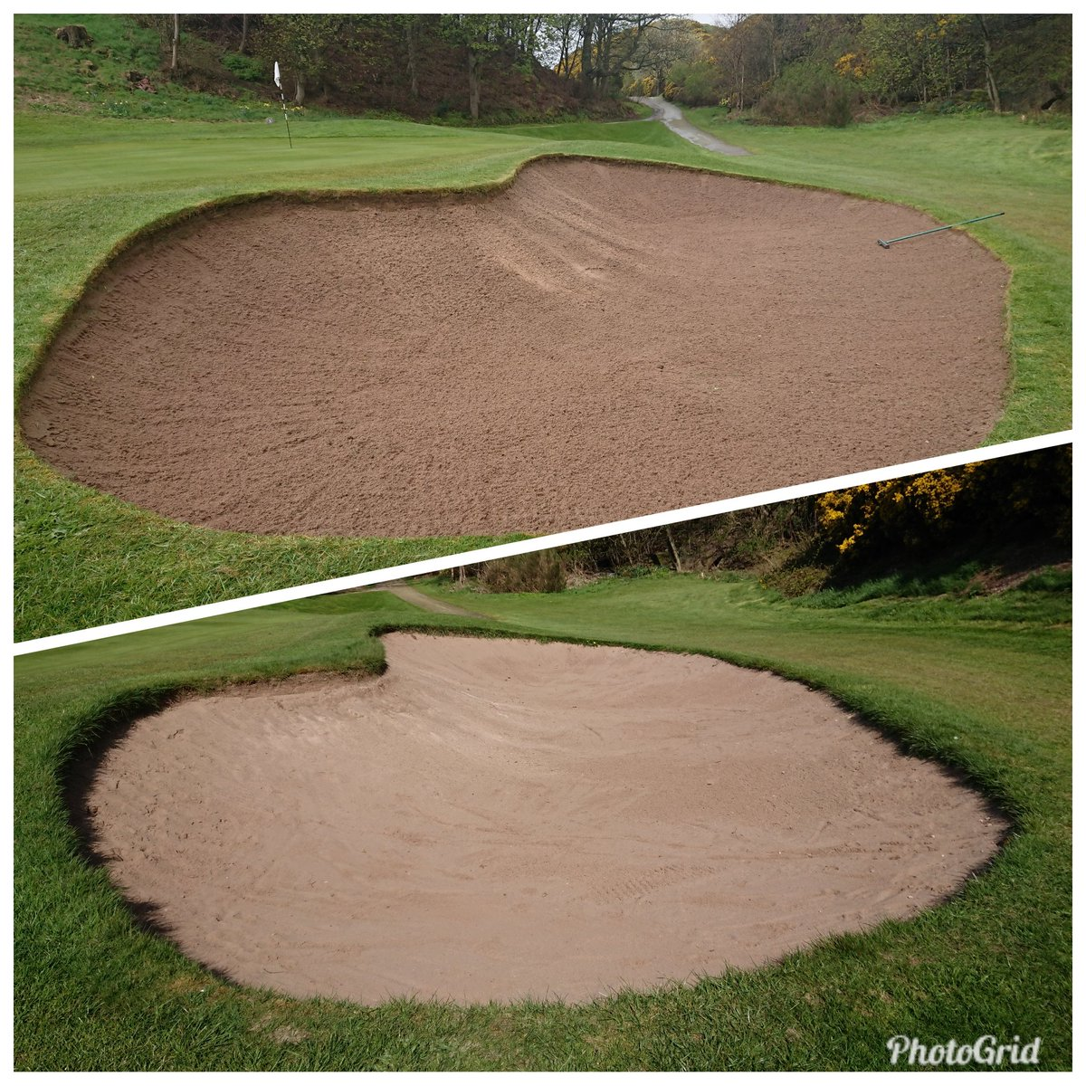 test Twitter Media - Strimming the bunker edges is quite a tedious job but it certainly improves the look of the golf course. https://t.co/dU21X28wkT