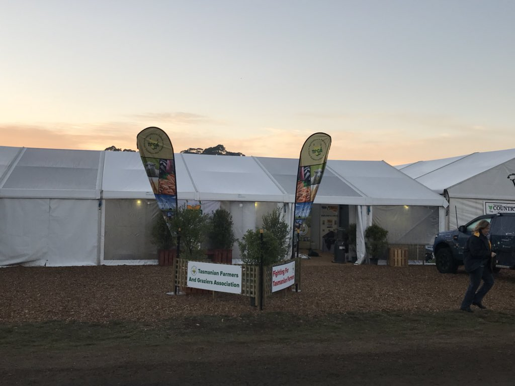 TFGA site 404 is open for business @Agfest_Tas...