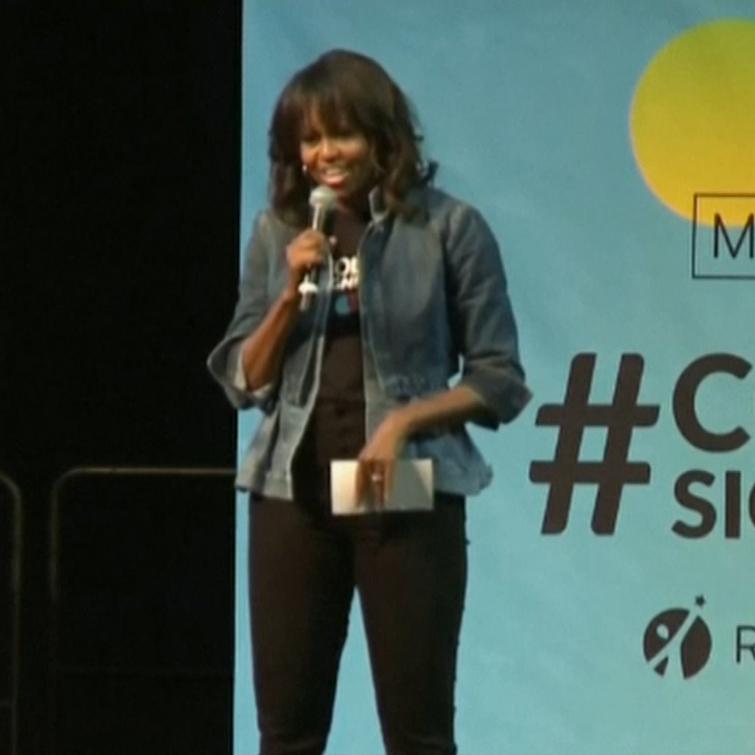 Michelle Obama tells students she's their 'Forever First Lady' in college speech