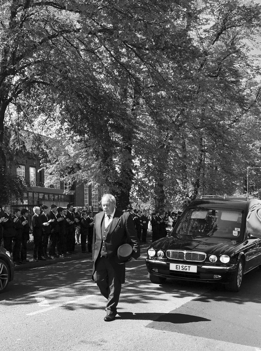 test Twitter Media - A final round of applause for former headmaster Peter Blake by boys @TWBS before his funeral today. So many in the school, in the past and today, owe him so much. A true Windsorian. https://t.co/zITdCfrIuj