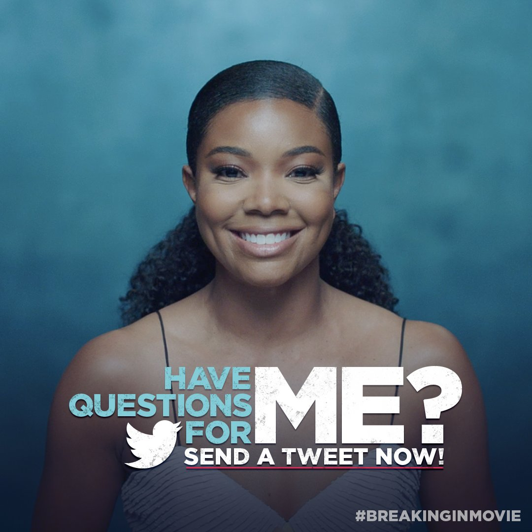 I'll be answering your questions LIVE on Twitter with @Blackbirds on Tuesday, 5/8! #BreakingInMovie https://t.co/HO4CC1cQNN