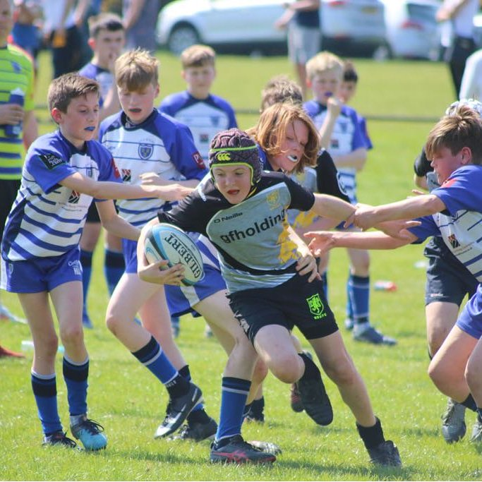 test Twitter Media - Toby bursting through on a powerful run in the Cheshire cup final v @salefc  #macclesfield #u12 #rugbyfamily  #cheshire #champions https://t.co/TOYFXcKNrB