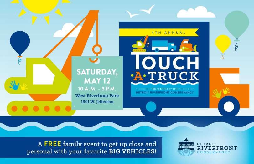 test Twitter Media - Don't miss the 4th Annual Touch-A-Truck event today from 10 am - 3 pm, presented by the Detroit Riverfront Conservancy. There will be more than 30 vehicles on display, arts and crafts, and more!! You can pre-register for this FREE family event at https://t.co/8G5tuvepBg! https://t.co/V0V7w73AET
