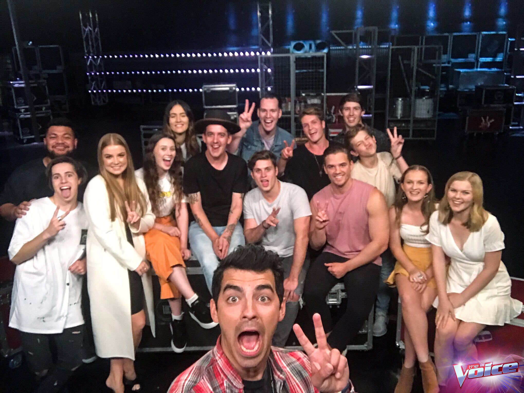Knockouts start tonight and we've got three intense rounds coming up... #TeamJoe @thevoiceau �� https://t.co/Iati2j8XCx