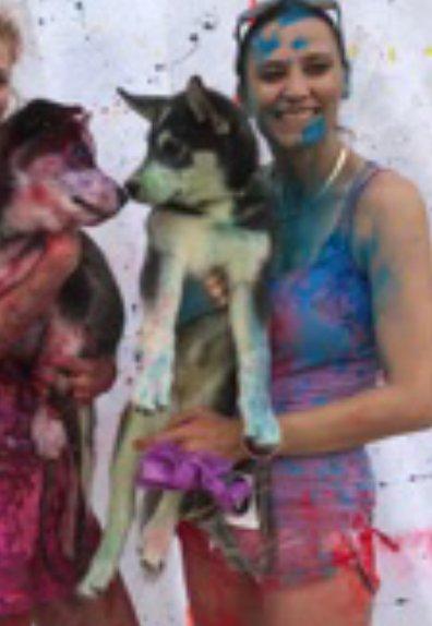 #Cornstatch Nicko & Ari 1st 5K age 3 months #ColorRun l96WLGvk7B