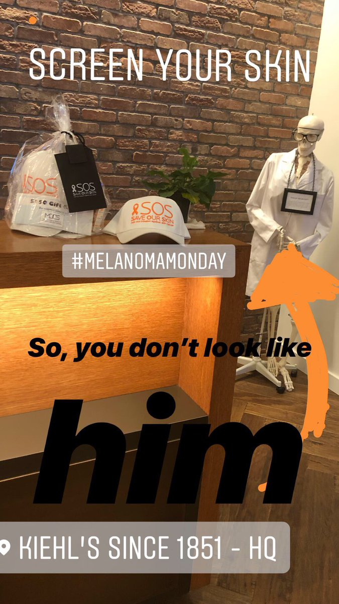 RT @DendyEngelman: Make sure to get your skin checked!!!#Melanomaawareness #melanomamonday #dermatologist https://t.co/1JpKwPaSeS