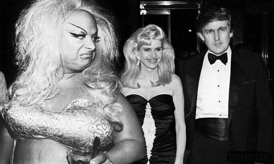 Better to be filthy than trashy. Stink eye for a trash guy #divine #dumptrump arLAyGcLL